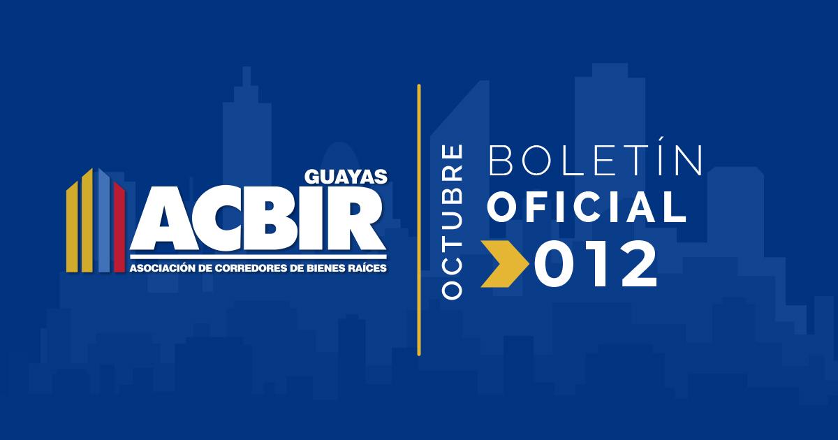 Boletin #012 – Octubre 2018