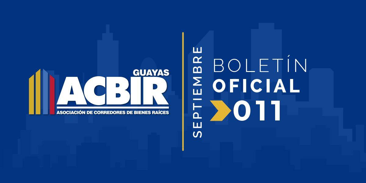 Boletin #011 – Septiembre 2018