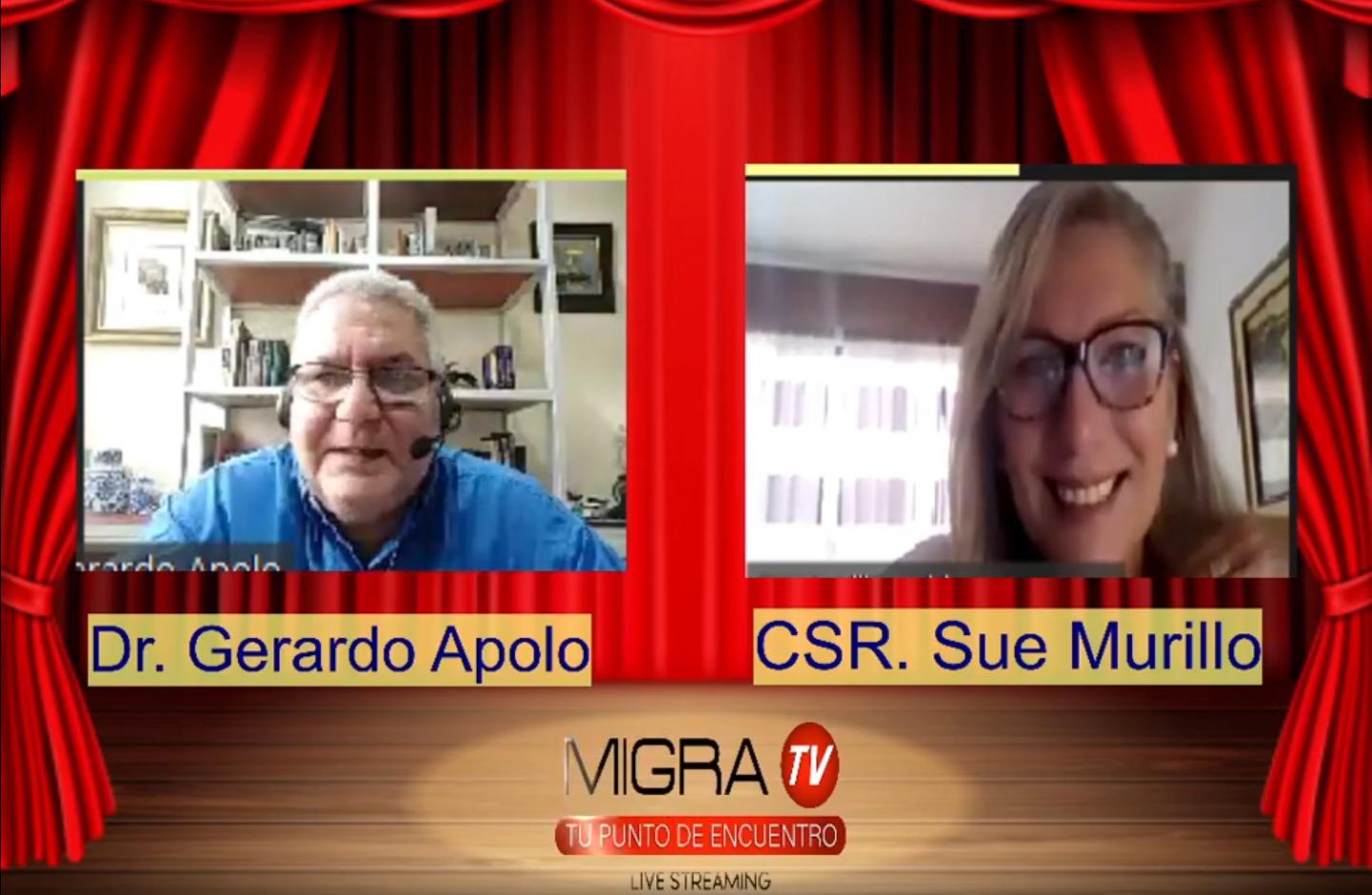 Entrevista | Migra Tv Radio – Cbr. Sue Morillo